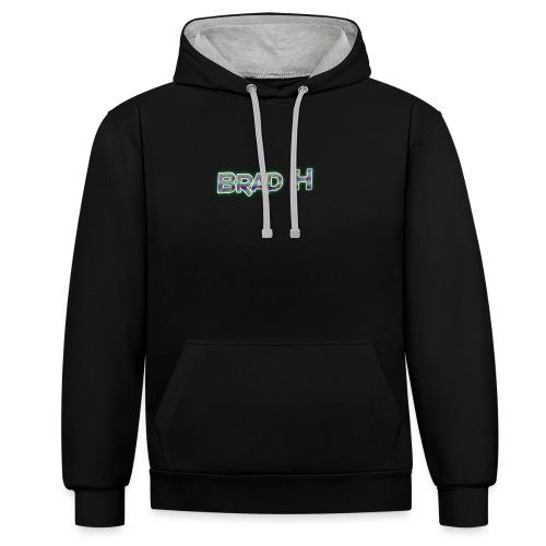 Official Brad H Logo - Contrast Colour Hoodie