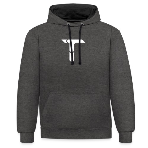 White Logo - Contrast Colour Hoodie