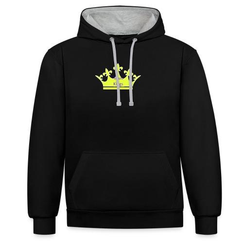 Team King Crown - Contrast Colour Hoodie
