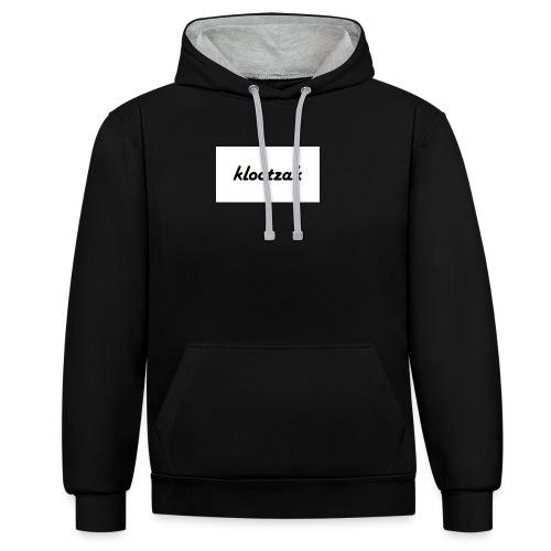 klootzak - Contrast hoodie