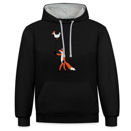 Fuchs und Henne - Kontrast-Hoodie