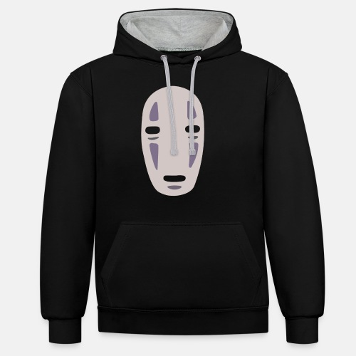 Anime Mask Spirited Away - Contrast Colour Hoodie