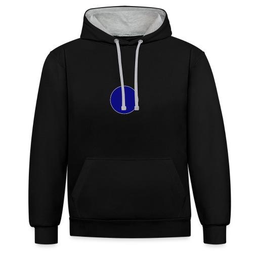 Blauer Kreis - Kontrast-Hoodie