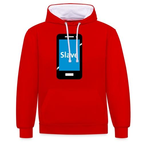 Slave to my phone 1 - Contrast hoodie