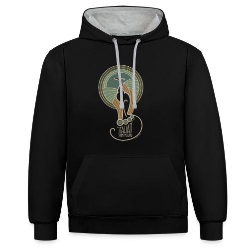 italian sighthound jugendstil 6 - Contrast hoodie