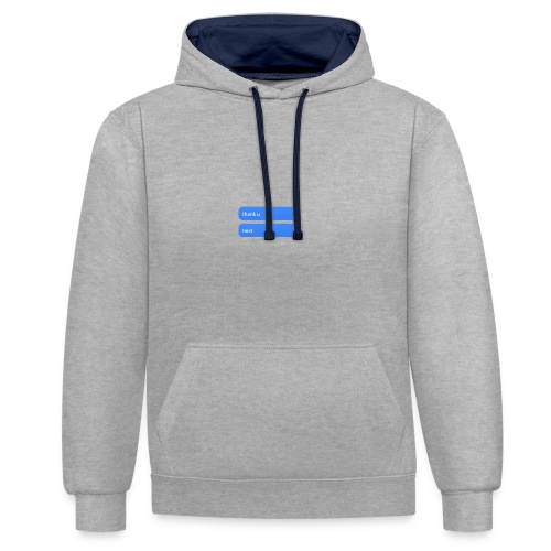 Thank u, next - Contrast hoodie