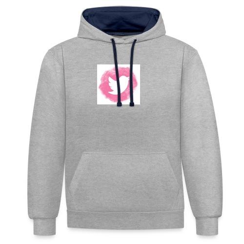 pink twitt - Contrast Colour Hoodie