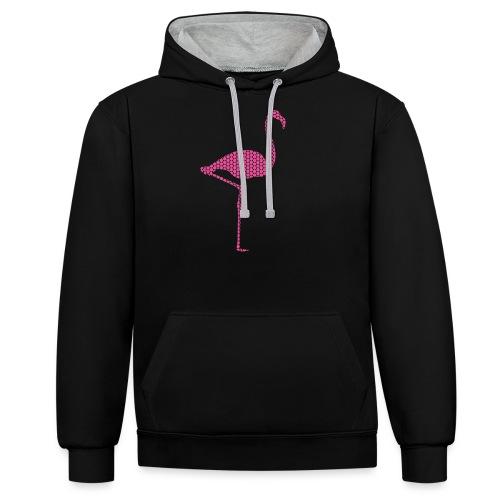 Flamingo Pink - Kontrast-Hoodie