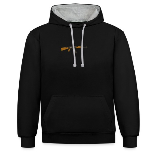 fire-cartoon-gun-bullet-arms-weapon-drawings-png - Contrast hoodie