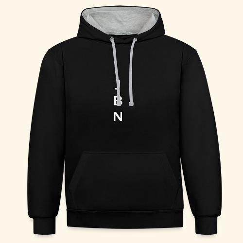 NELSON Hoodie With JBN Initials - Kontrast-hættetrøje