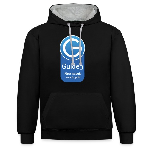 Gulden - Meer waarde voor je geld - Contrast hoodie