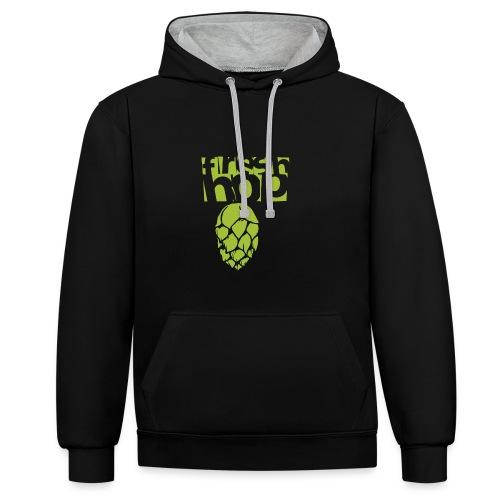 fresh hop cervecearte - Sudadera con capucha en contraste