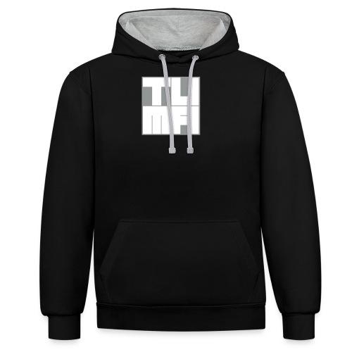 tuma logo bicolor - Kontrast-Hoodie