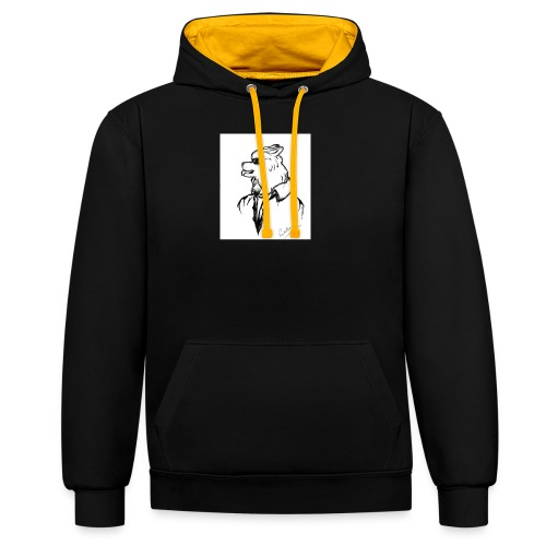 InkedThe Dog style bak LI - Sudadera con capucha en contraste