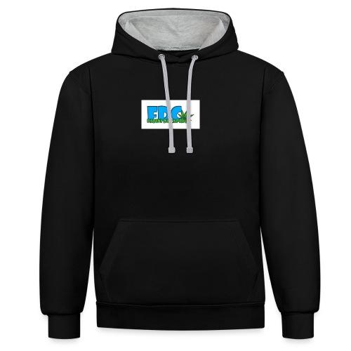 Logo_Fabini_camisetas-jpg - Sudadera con capucha en contraste