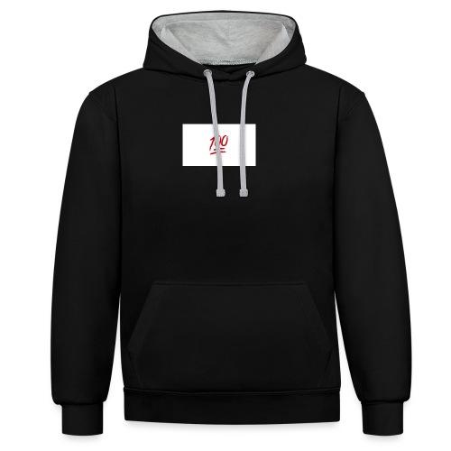100_emoji - Contrast hoodie