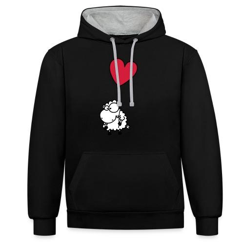 Liebes Schaf - mit Herz Ballon - Kontrast-Hoodie