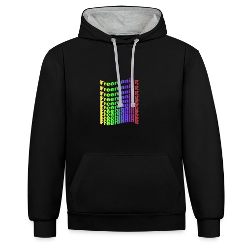 Freerunning Rainbow - Kontrast-hættetrøje