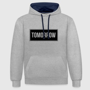 Tomorrow_Black - Sweat-shirt contraste