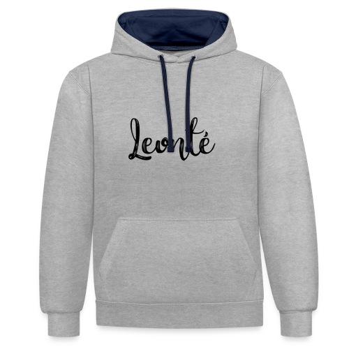 Leonté Basic - Kontrast-Hoodie