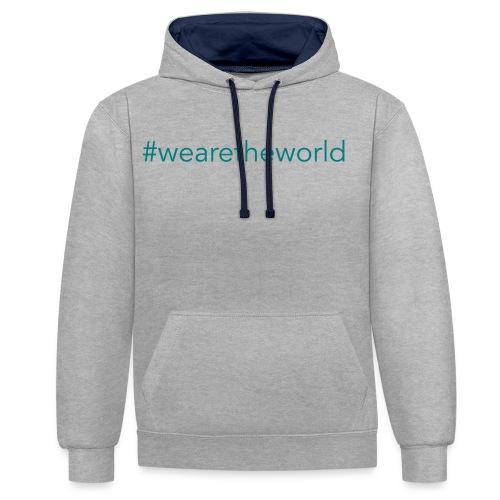 #wearetheworld - Kontrast-Hoodie