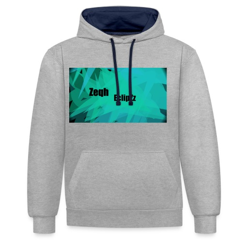 Zeqh EclipZz Youtube Name - Contrast Colour Hoodie
