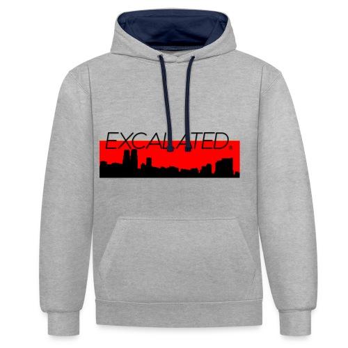 Excalated Skyline - Kontrast-Hoodie