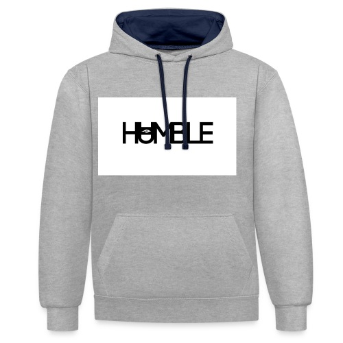 Humble logo - Contrast hoodie
