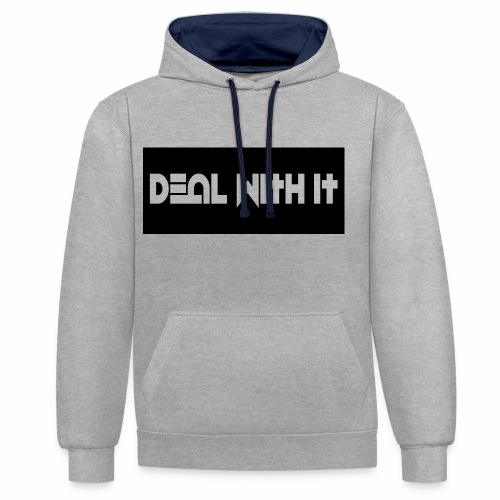 Deal With It products - Contrast Colour Hoodie