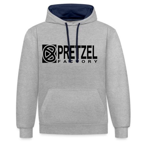 Pretzel Factory Logo Noir - Sweat-shirt contraste