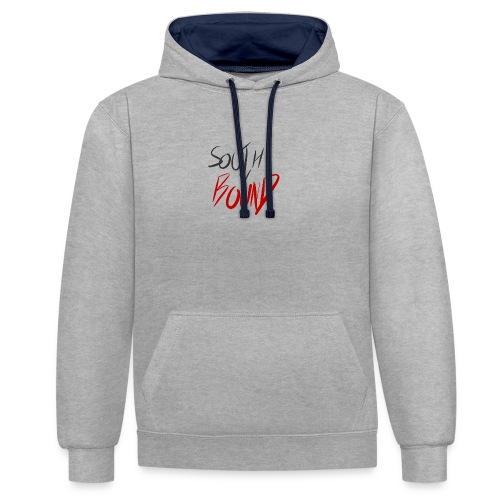 Back and Red Logo - Contrast Colour Hoodie