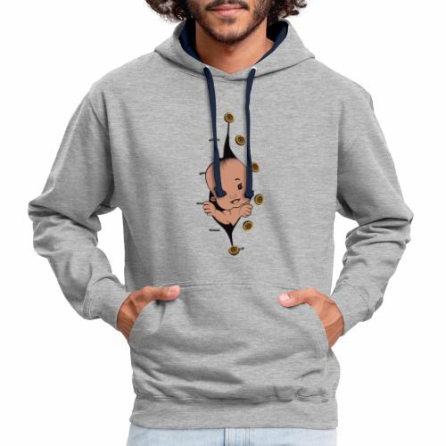 Design 1 baby without smile buttons right - Sweat-shirt contraste