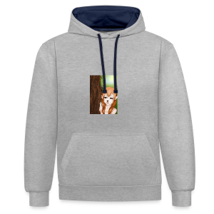 Sam sung s6:Deer-girl design by Tina Ditte - Contrast Colour Hoodie