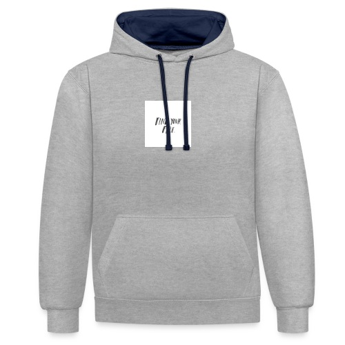 Find your Fire - Contrast Colour Hoodie
