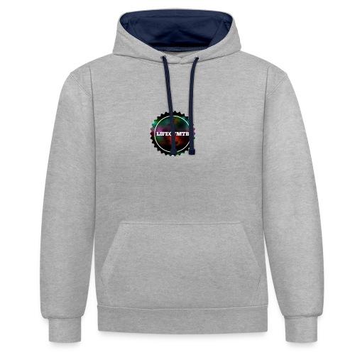 Neues Logo - Kontrast-Hoodie