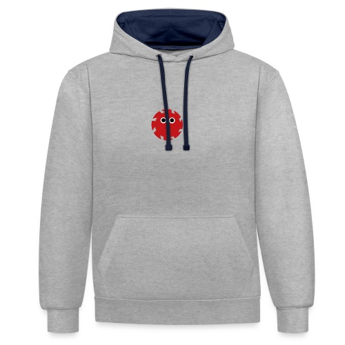 NGD Logo Klein (Zwart) - Contrast hoodie