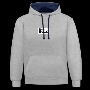 Bald clothing childish logo - Contrast hoodie