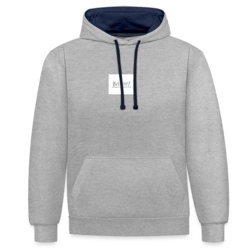 t shirt met tekst 'bullshit' - Contrast hoodie