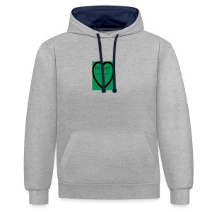 Ireland always in my heart - Contrast Colour Hoodie