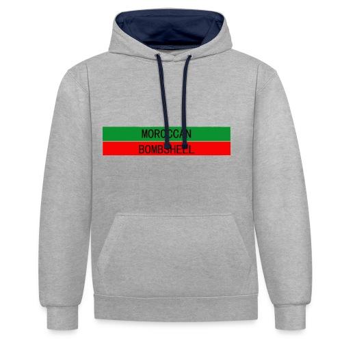 Moroccan Bombshell - Kontrast-Hoodie