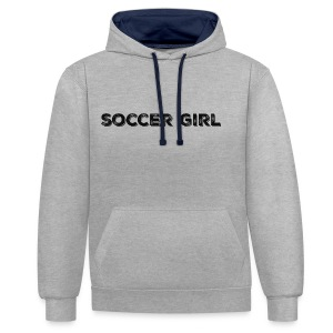 SOCCER GIRL LOGO SHIRT - Contrast Colour Hoodie
