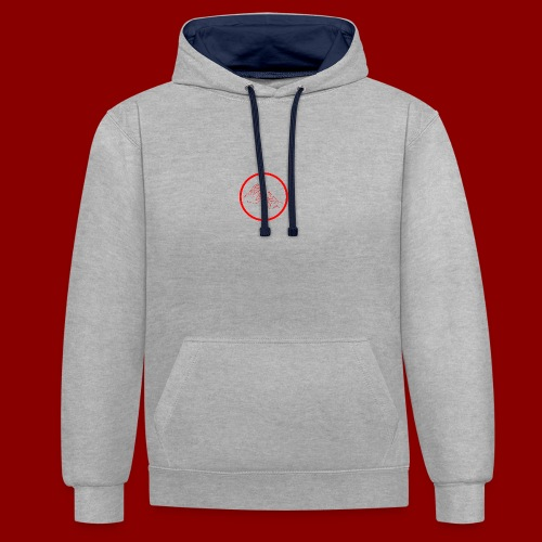 Logo Rond / Rouge - Sweat-shirt contraste