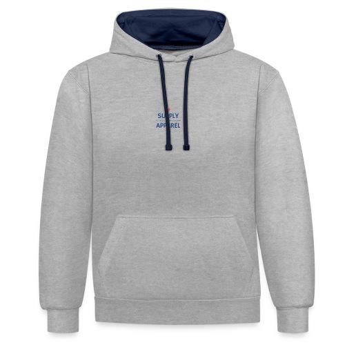 Plain EST logo design - Contrast Colour Hoodie