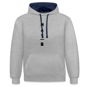 May-B Sleeve Design - Contrast Colour Hoodie