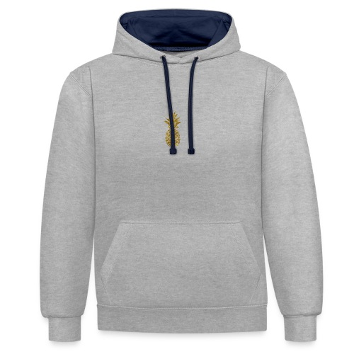 pineapple gold - Contrast Colour Hoodie