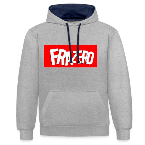 FRAZERO RED BOX DESIGN - Contrast Colour Hoodie