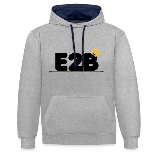 E2B THE KING - Kontrast-hettegenser