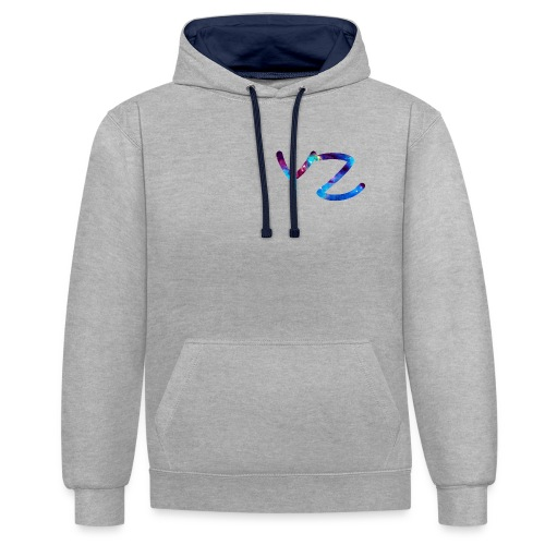 YoungZock Design - Kontrast-Hoodie