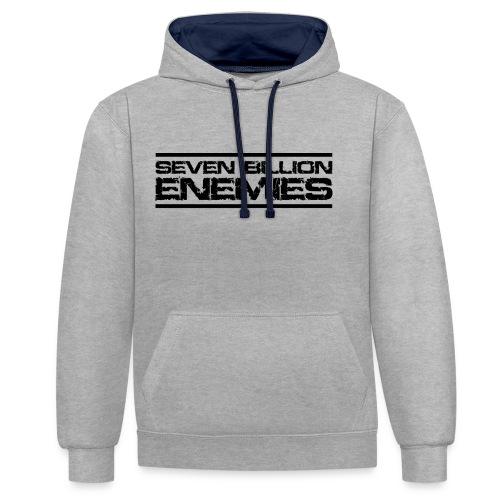 Seven Billion Enemies - NOIR - Sweat-shirt contraste