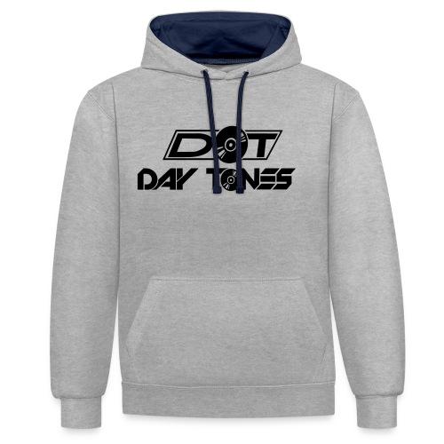 DT Logo black - Kontrast-Hoodie